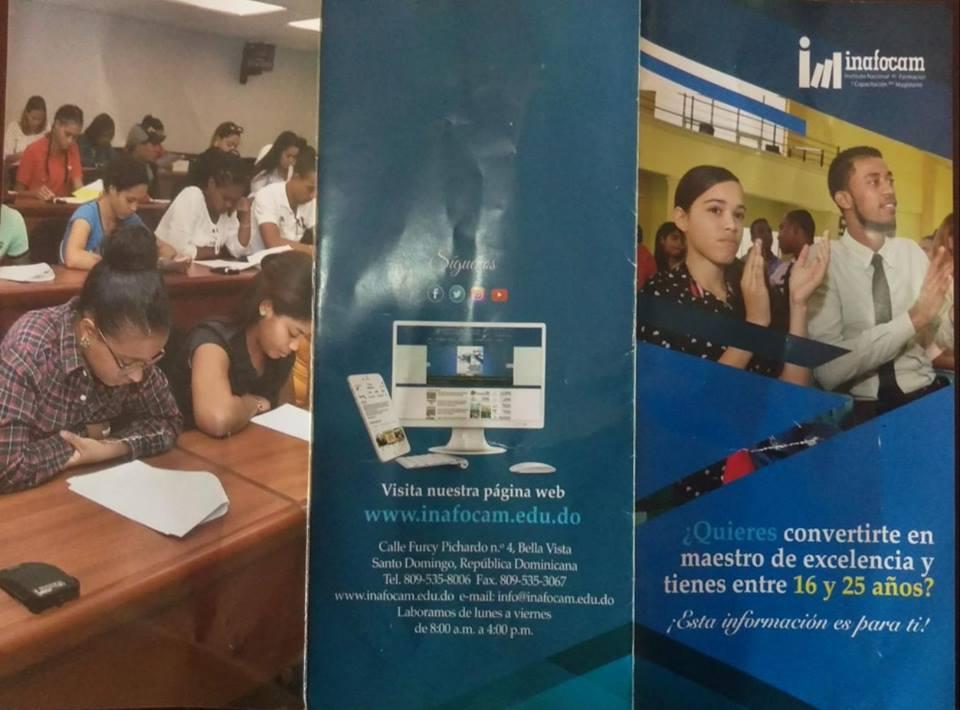 Invitación Encuentro Jóvenes Bachilleres con el Licdo. Andres De Lad Mercedes Director de INAFOCAM